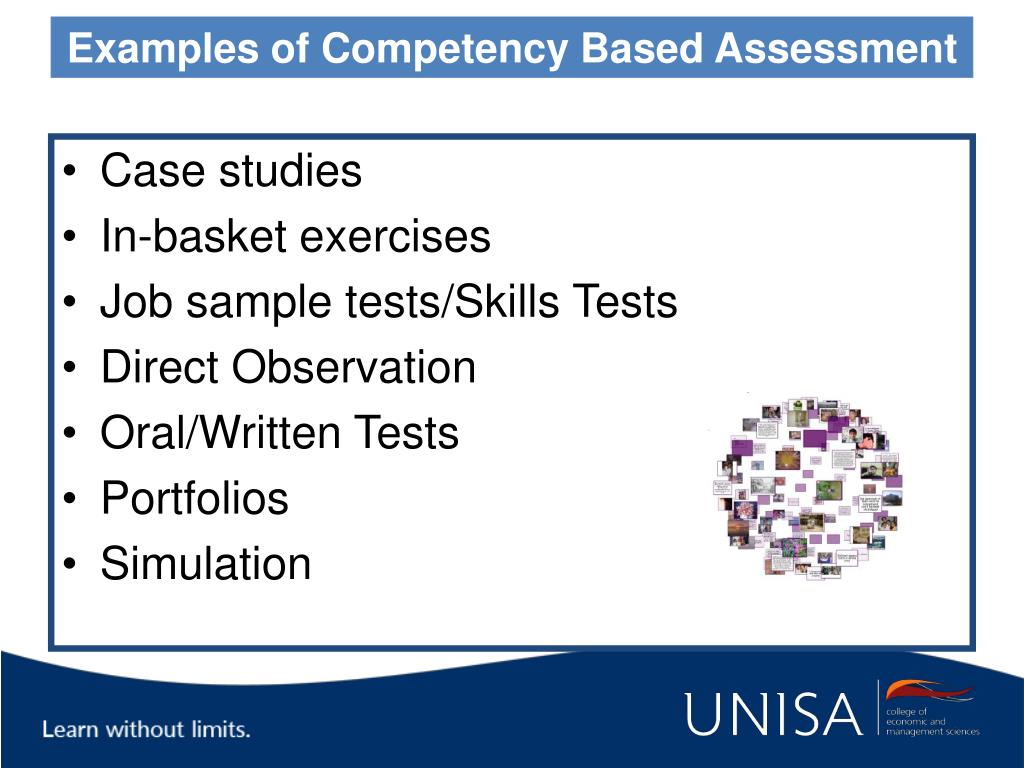 Examples of Competency Based Assessment