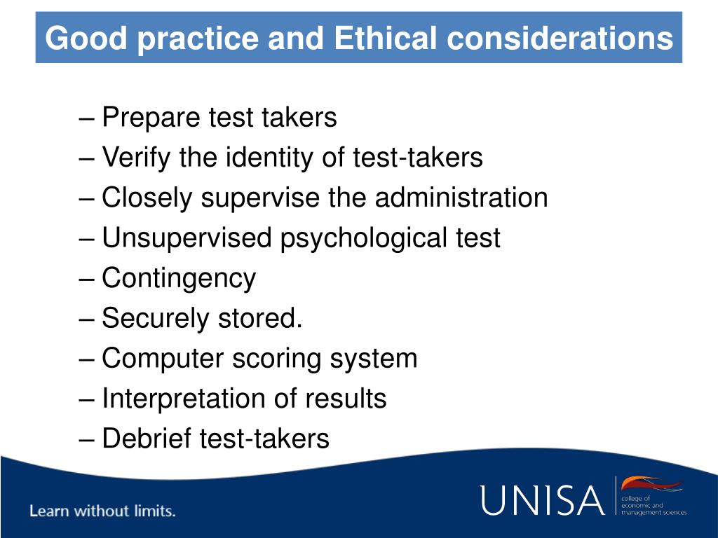 Good practice and Ethical considerations