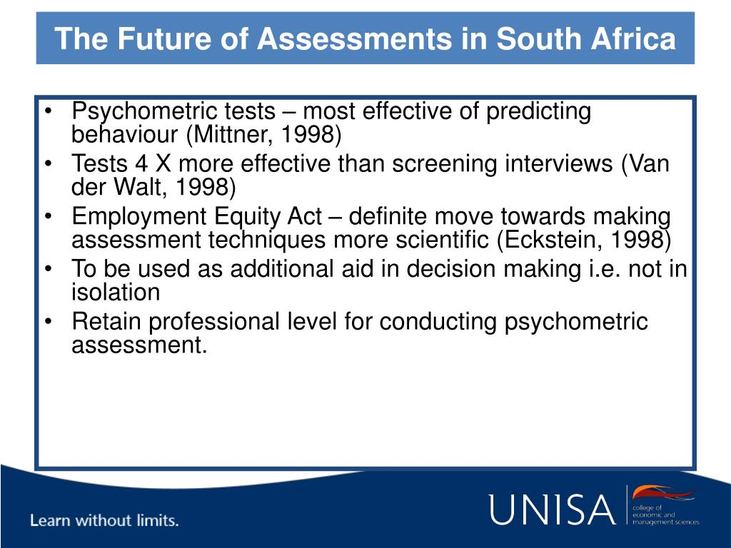 The Future of Assessments in South Africa