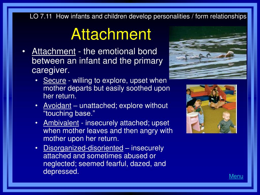 LO 7.11  How infants and children develop personalities / form relationships