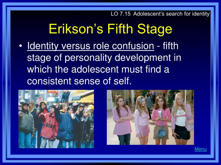 eriksons fifth stage of development