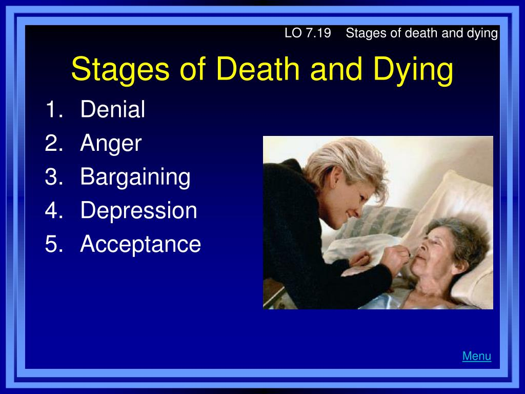 LO 7.19    Stages of death and dying