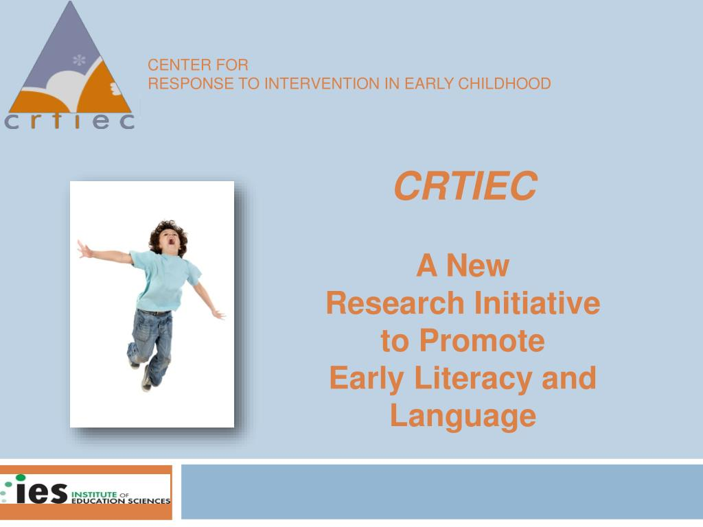 center for response to intervention in early childhood l.
