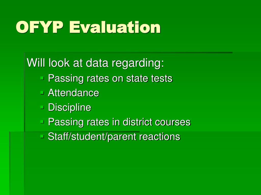 OFYP Evaluation