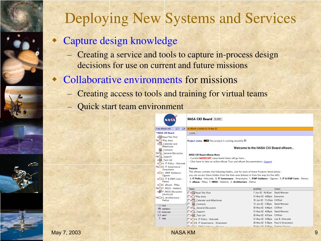 Deploying New Systems and Services