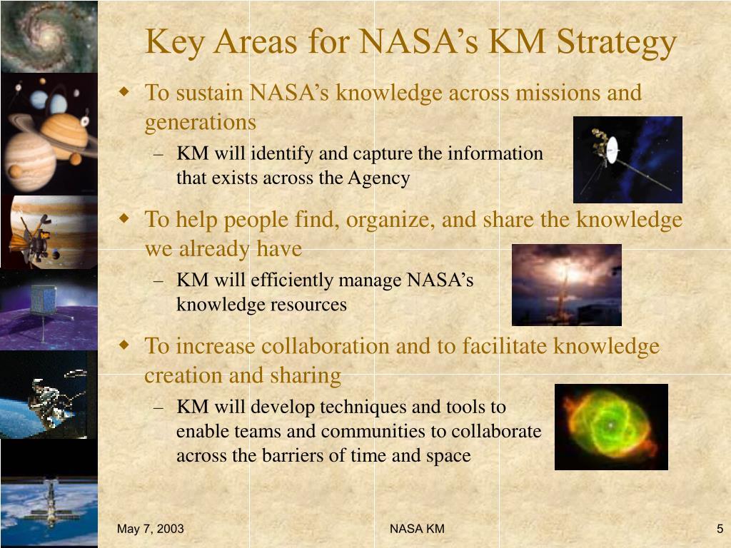 Key Areas for NASA's KM Strategy