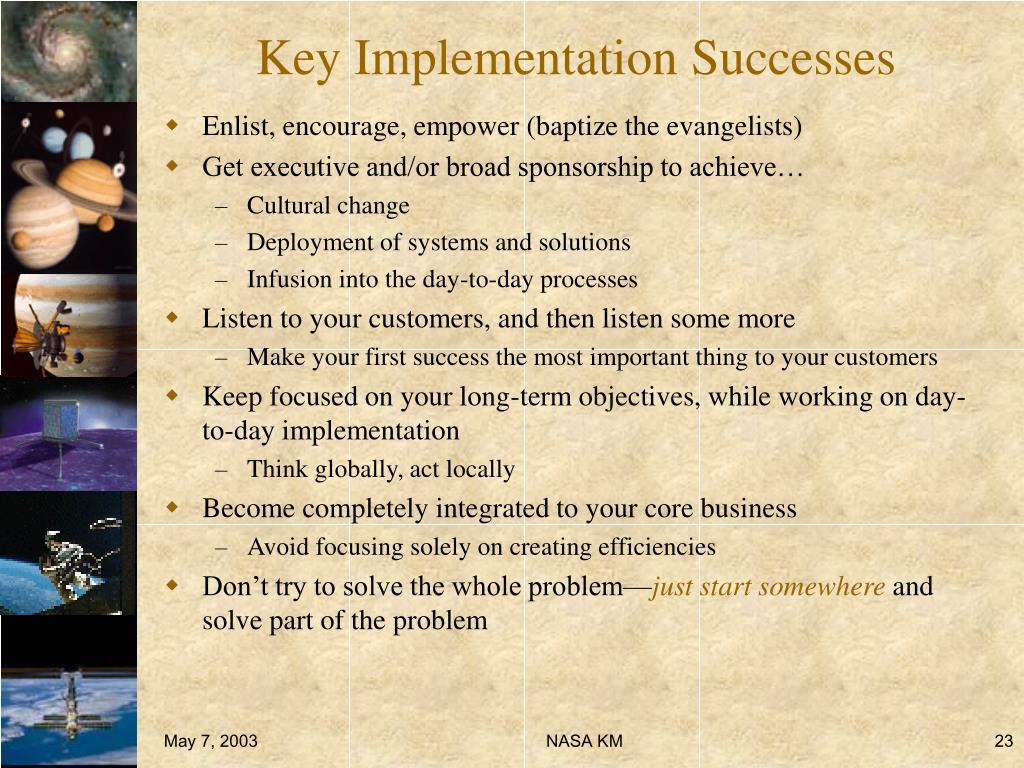Key Implementation Successes