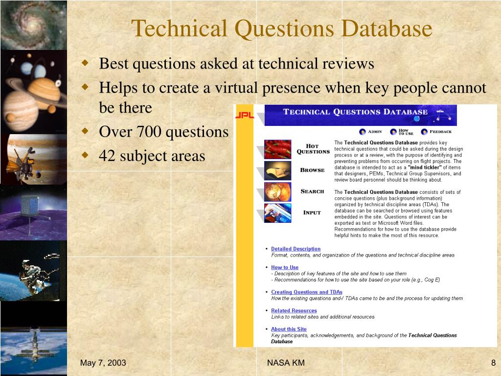 Technical Questions Database