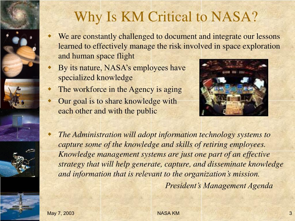 Why Is KM Critical to NASA?