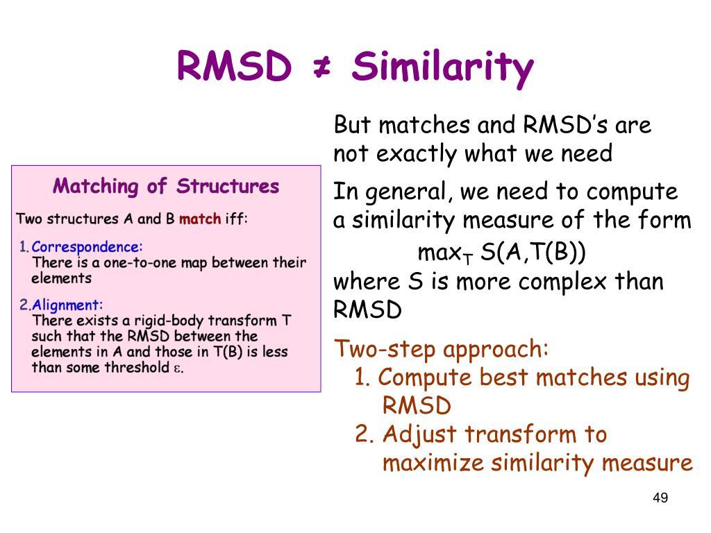 RMSD ≠ Similarity