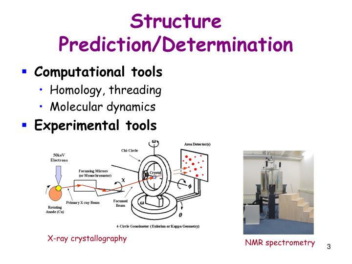 Structure prediction determination