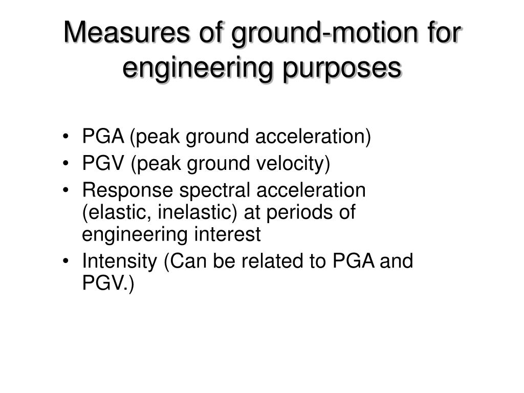 Measures of ground-motion for engineering purposes