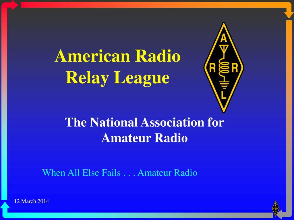 american radio relay league