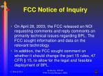 fcc notice of inquiry