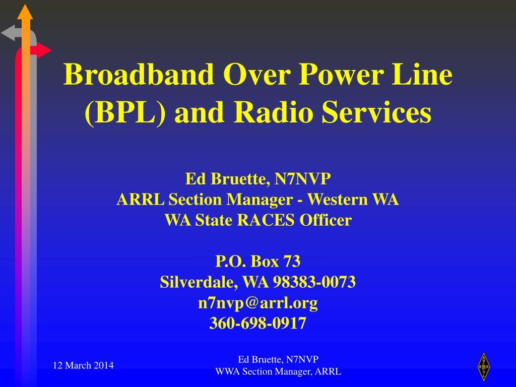 PPT - American Radio Relay League PowerPoint Presentation