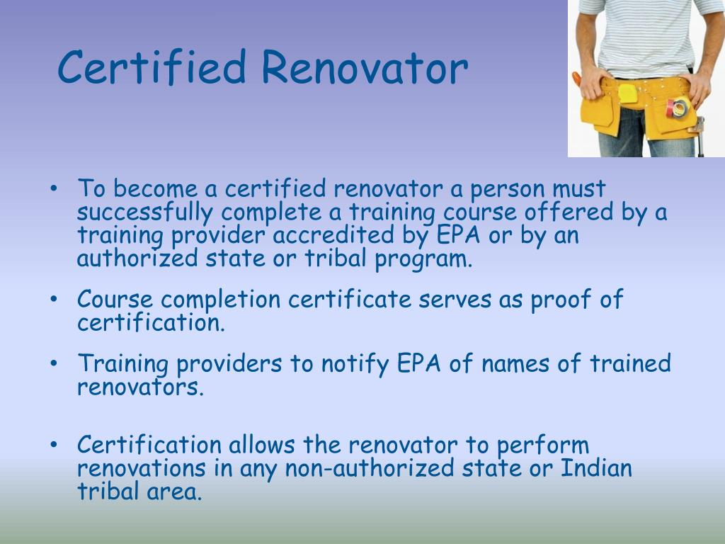 Certified Renovator