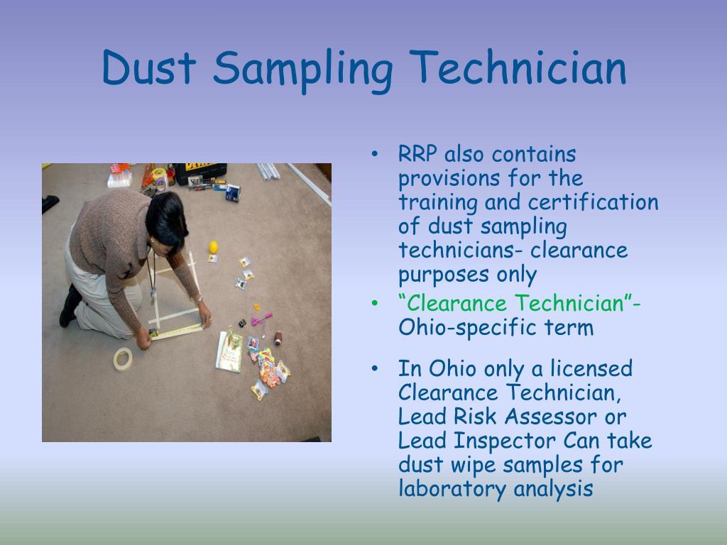 Dust Sampling Technician