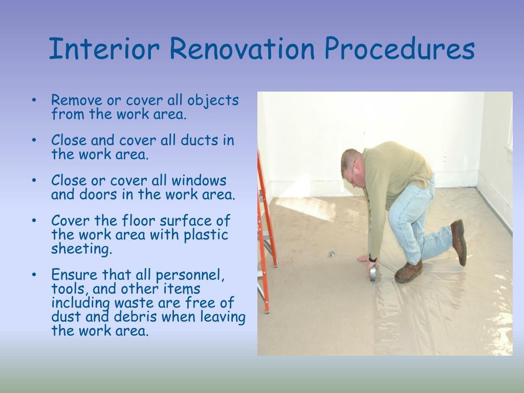 Interior Renovation Procedures