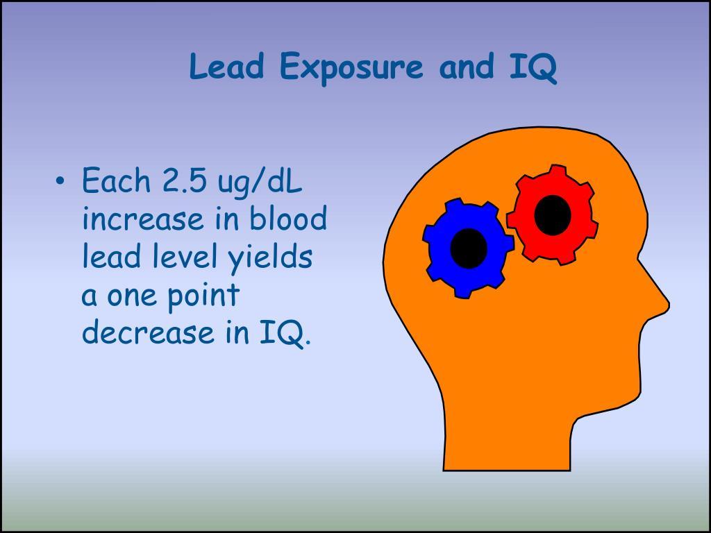 Lead Exposure and IQ