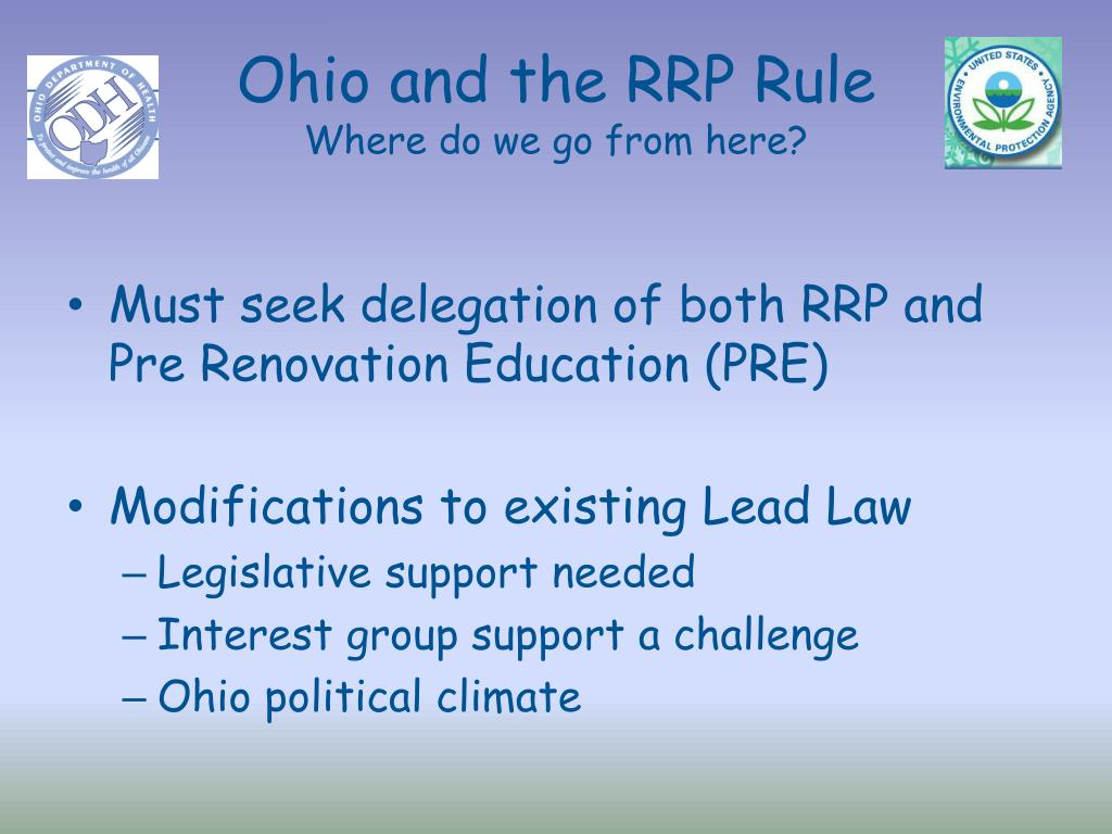 Ohio and the RRP Rule