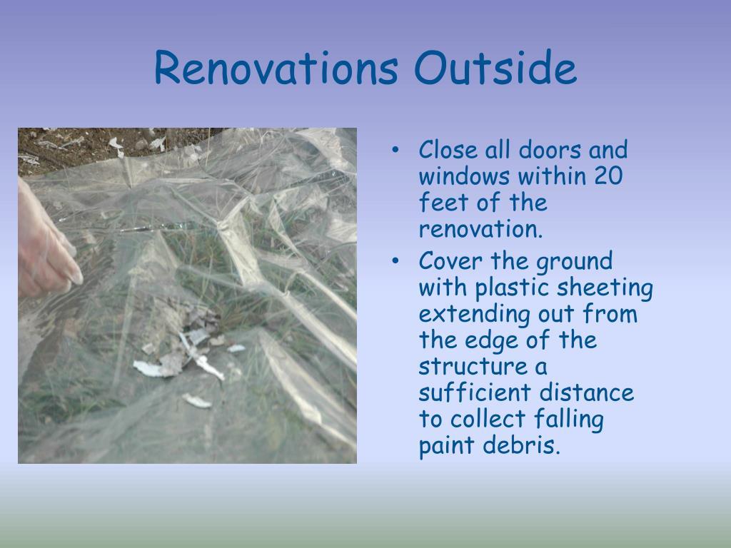 Renovations Outside