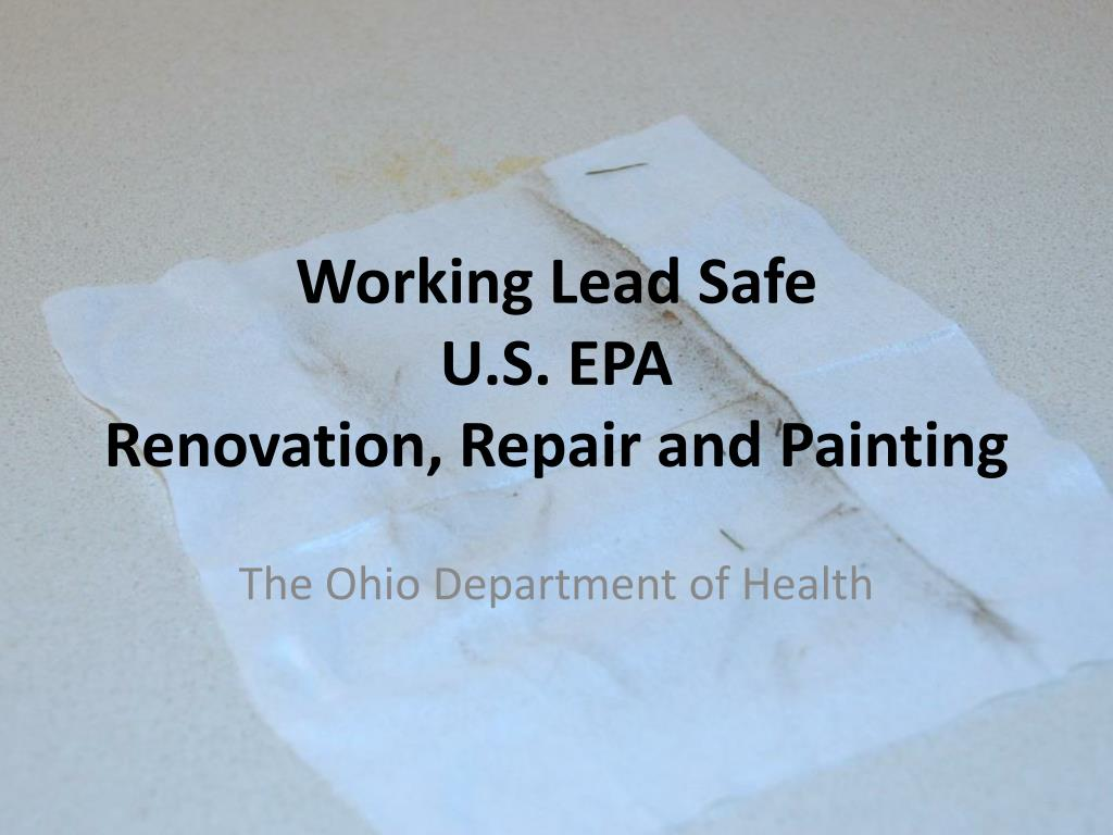 Working Lead Safe