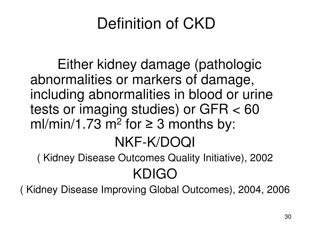 Definition of CKD