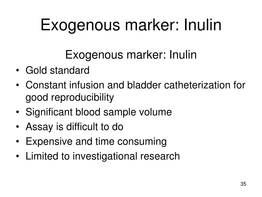 Exogenous marker: Inulin