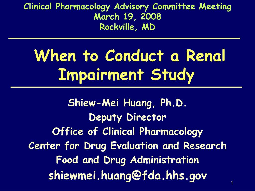 Clinical Pharmacology Advisory Committee Meeting
