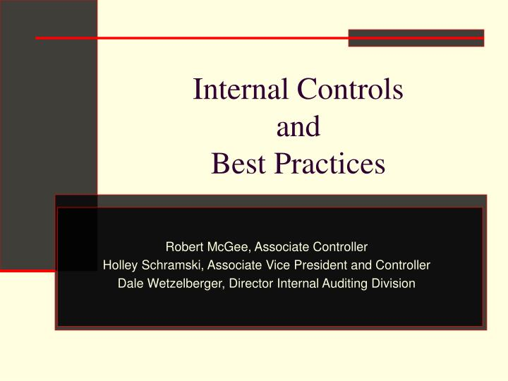 internal controls and best practices n.