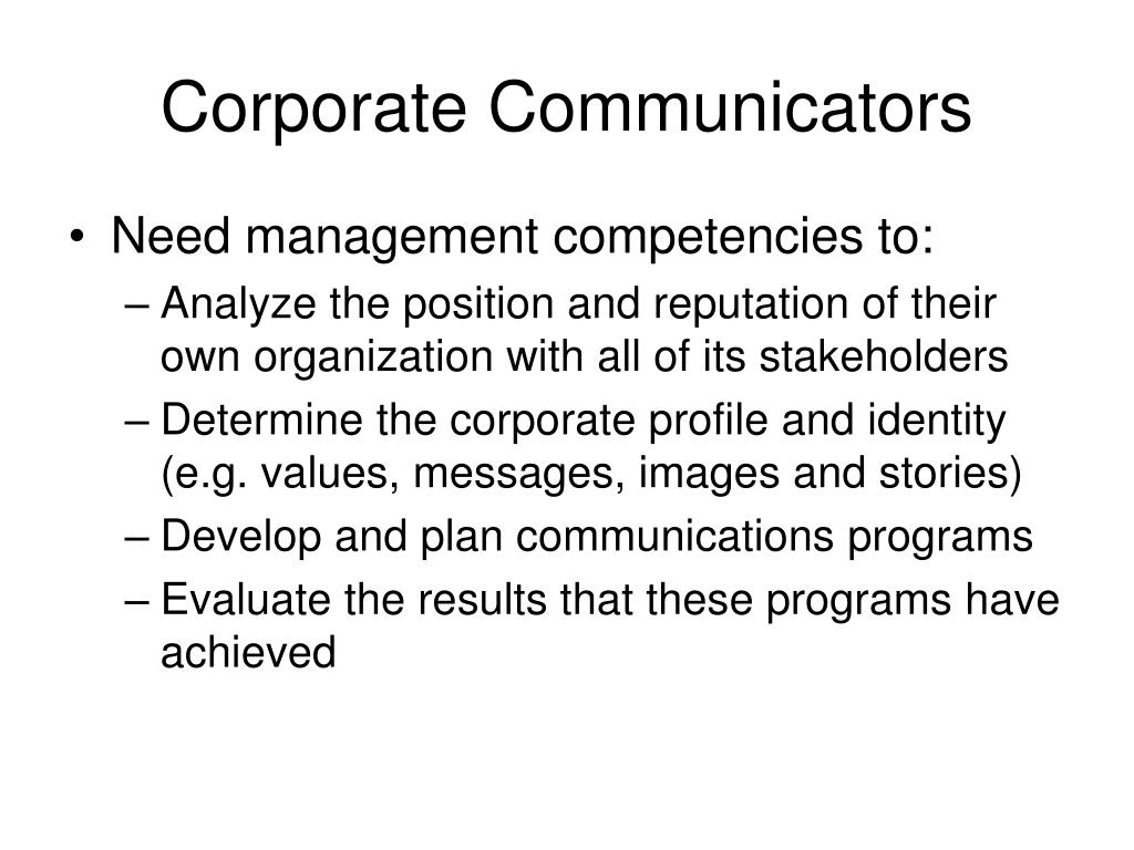 Corporate Communicators