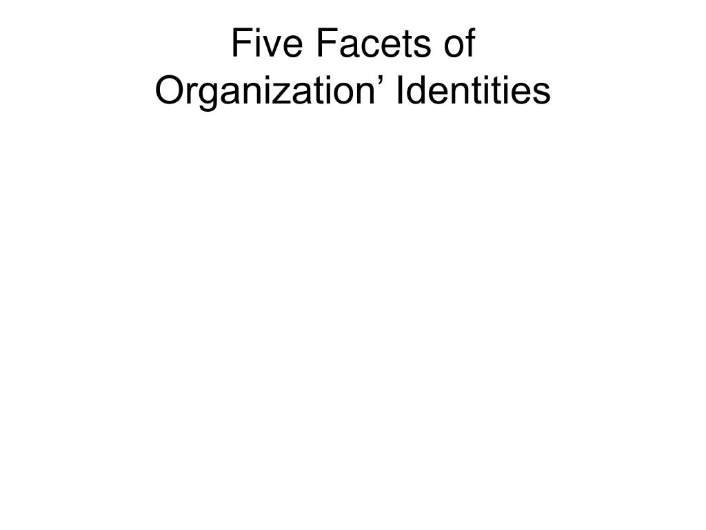 Five Facets of