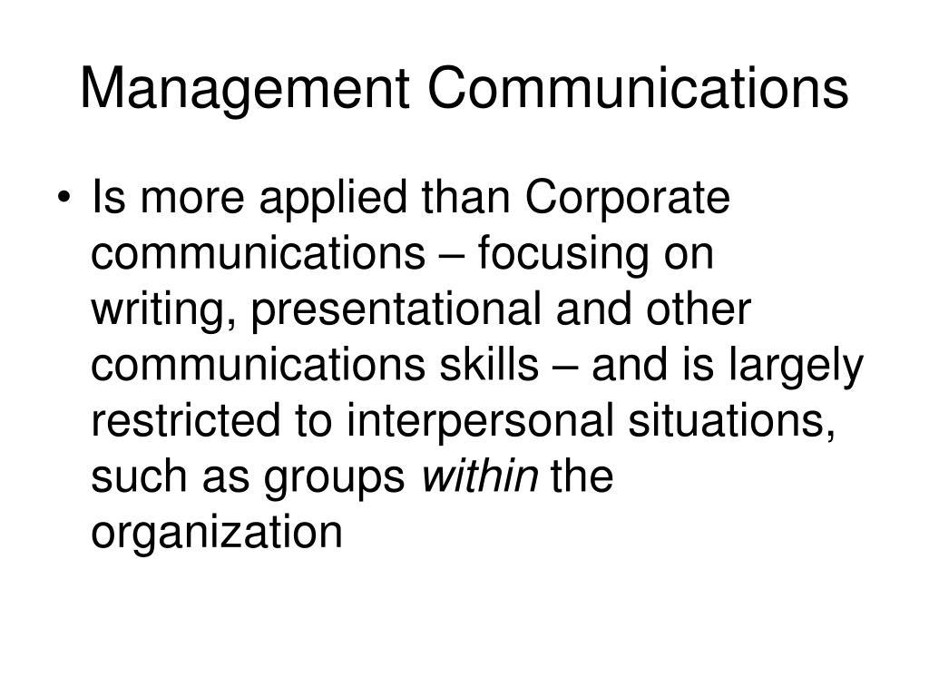 Management Communications