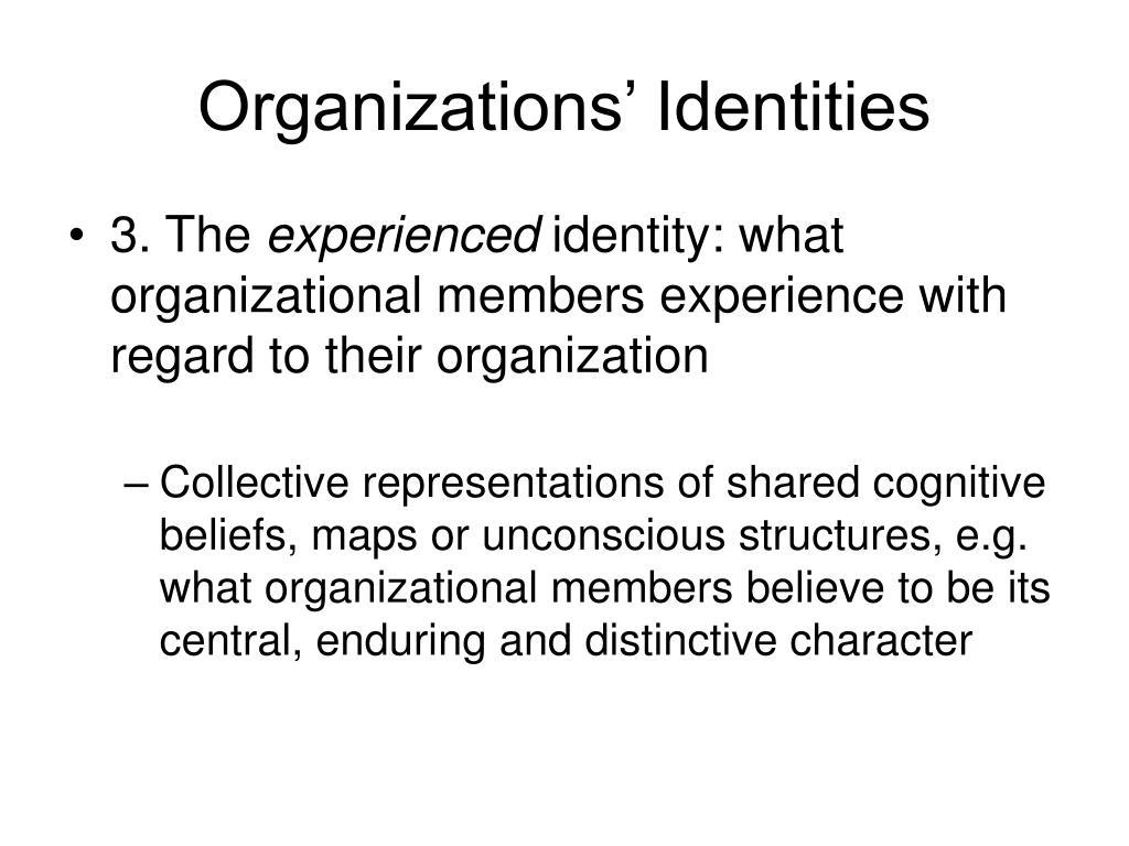 Organizations' Identities
