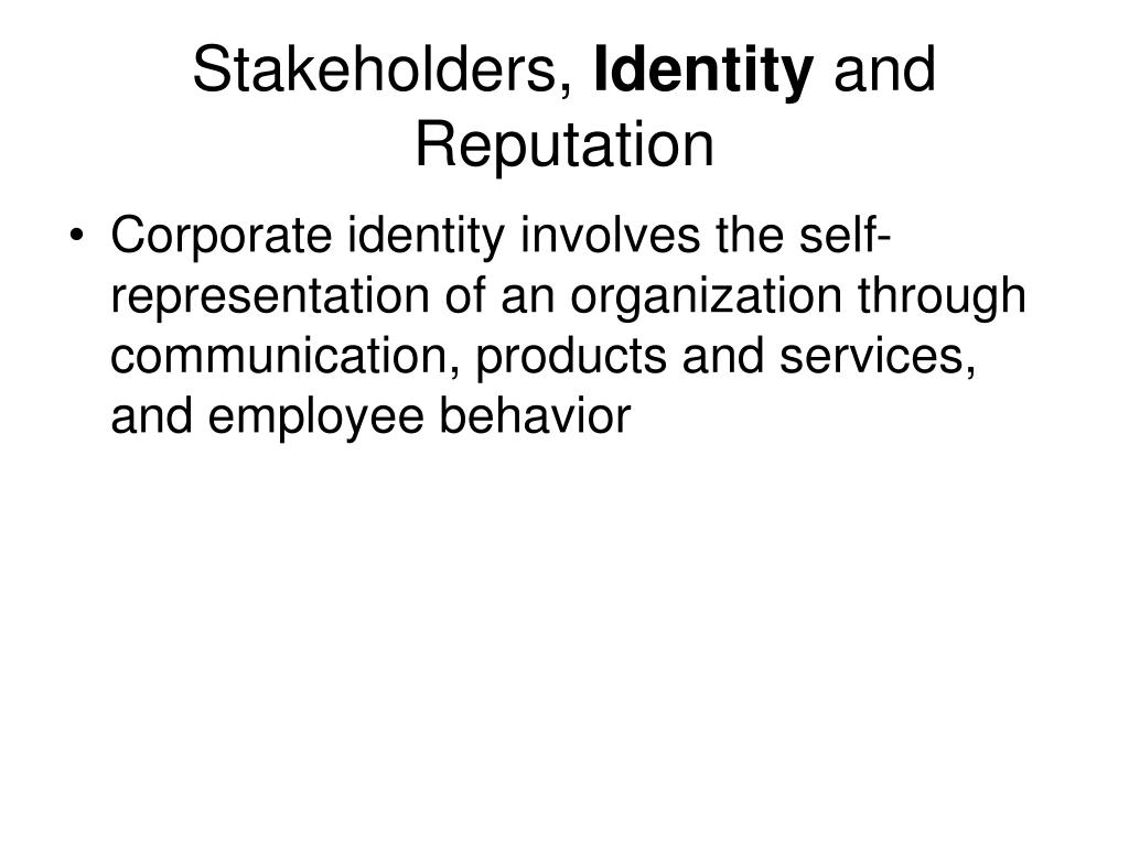 Stakeholders,