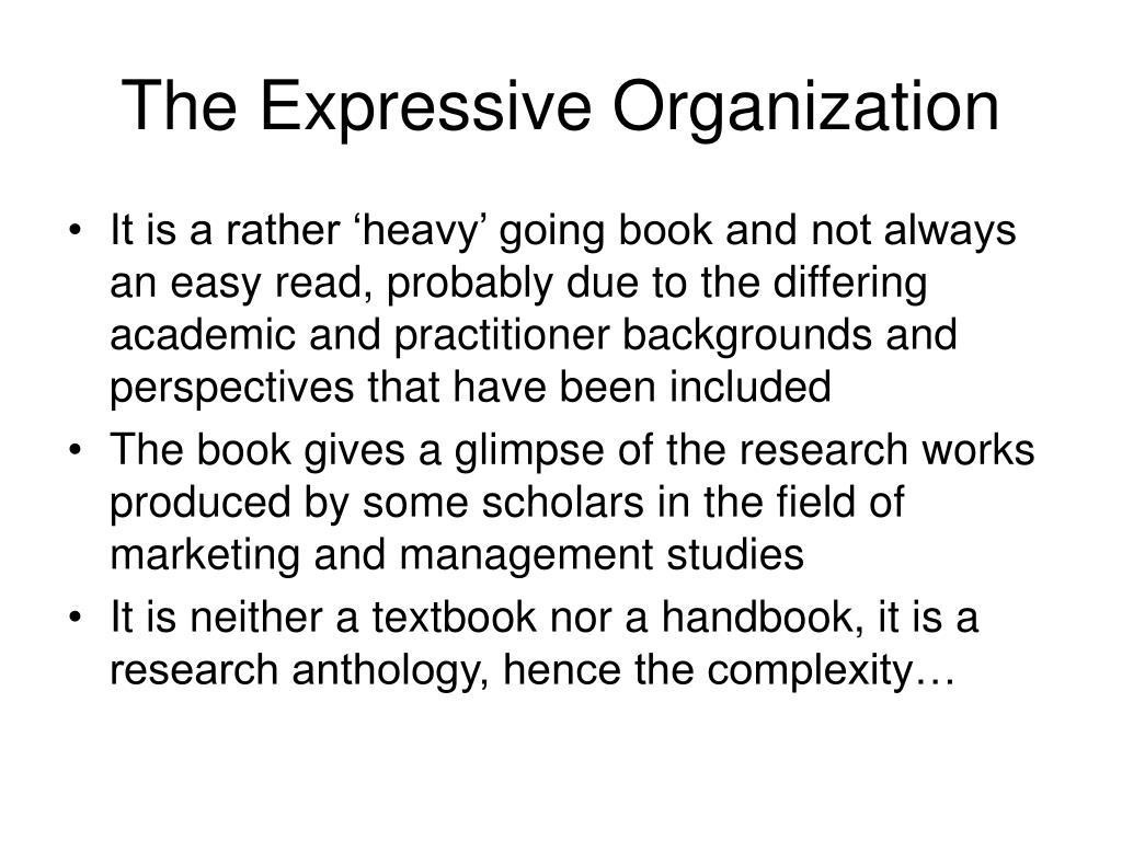 The Expressive Organization