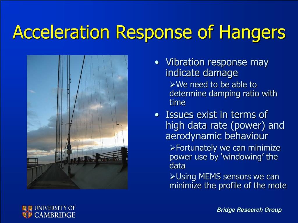 Acceleration Response of Hangers
