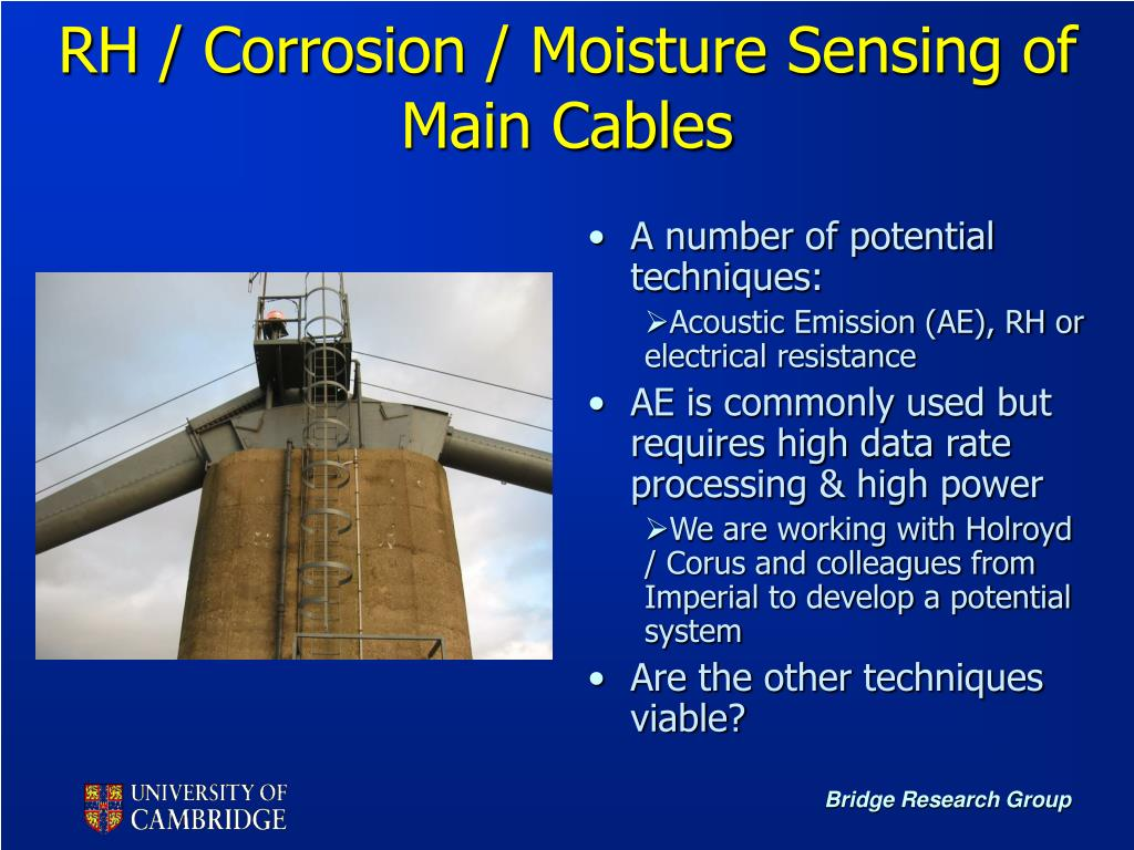 RH / Corrosion / Moisture Sensing of Main Cables
