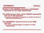 intersect franz