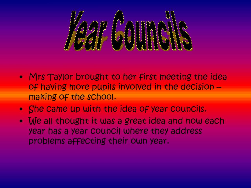 Year Councils