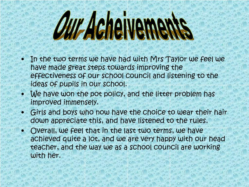 Our Acheivements