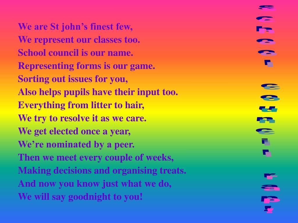 We are St john's finest few,