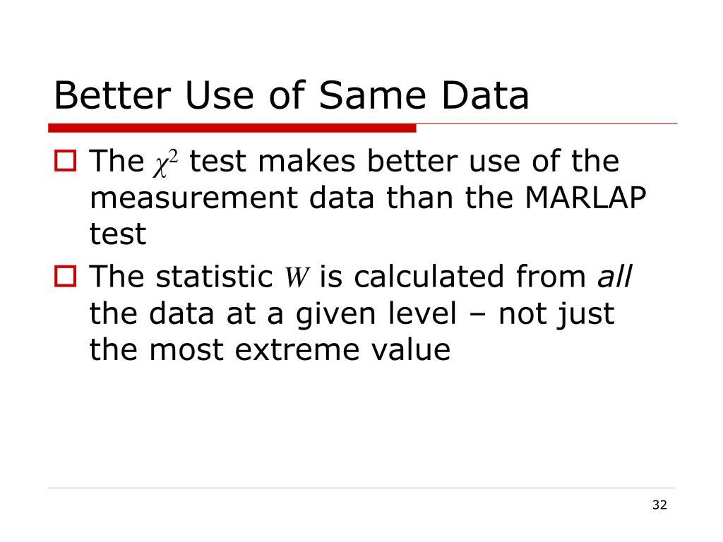 Better Use of Same Data