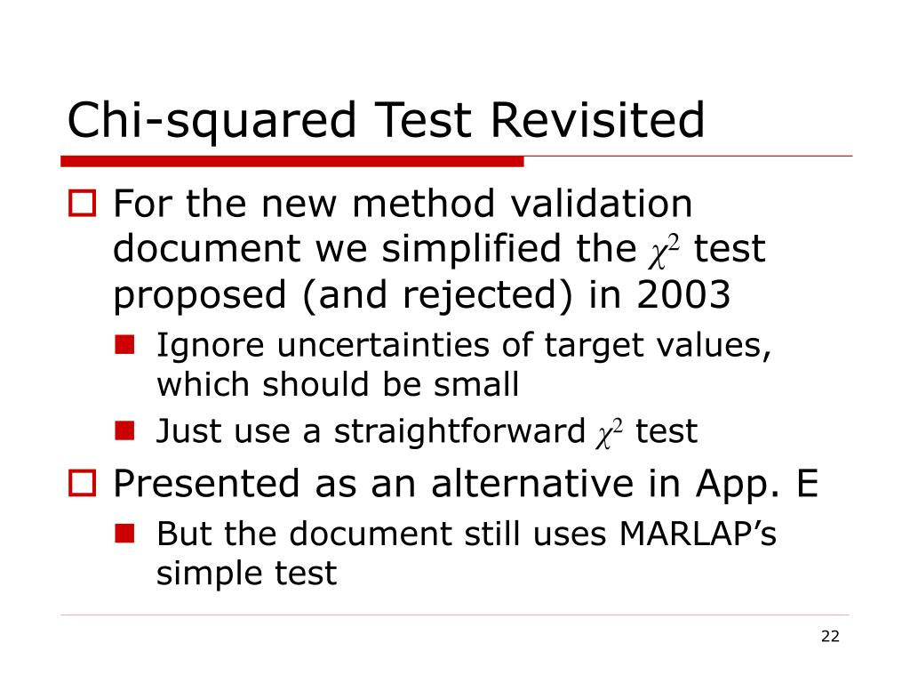 Chi-squared Test Revisited