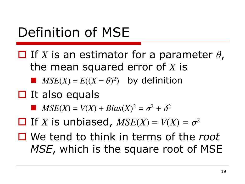 Definition of MSE