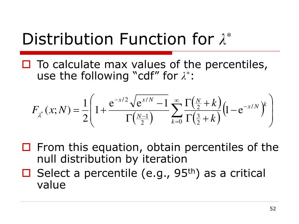 Distribution Function for