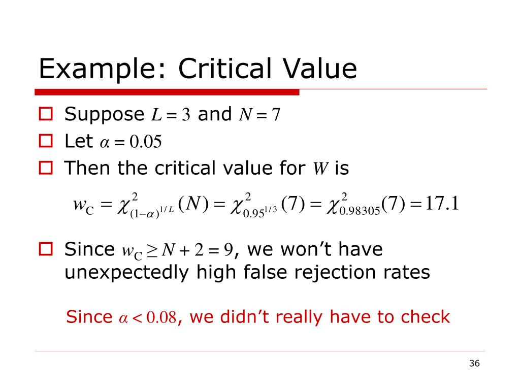 Example: Critical Value