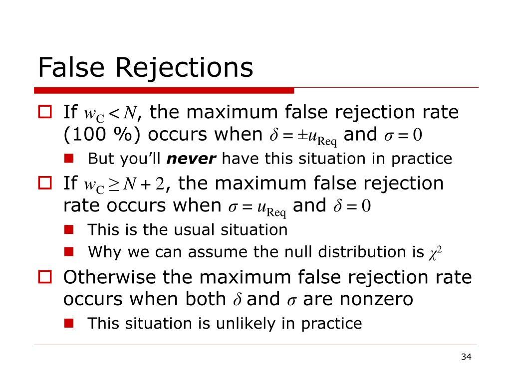 False Rejections