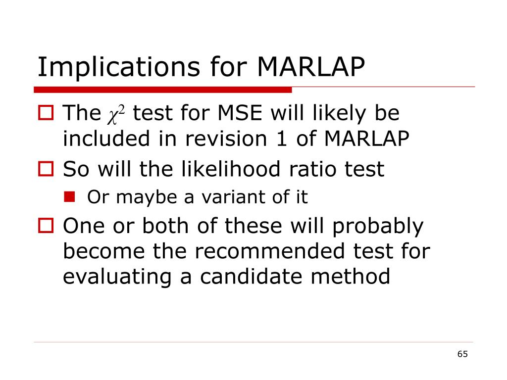 Implications for MARLAP