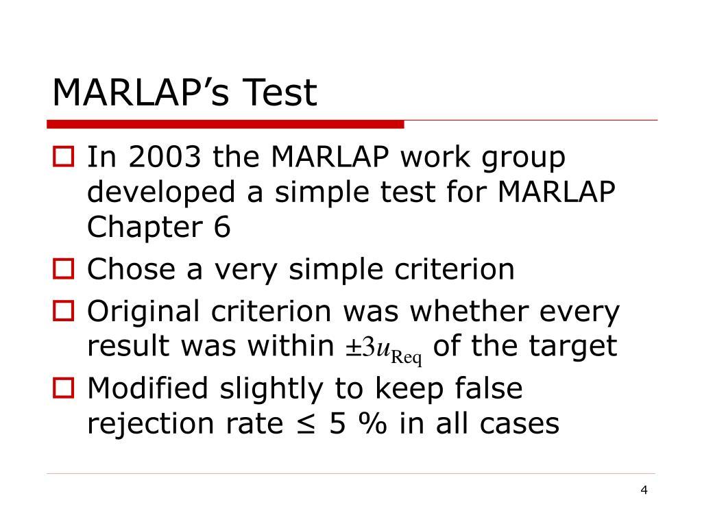 MARLAP's Test